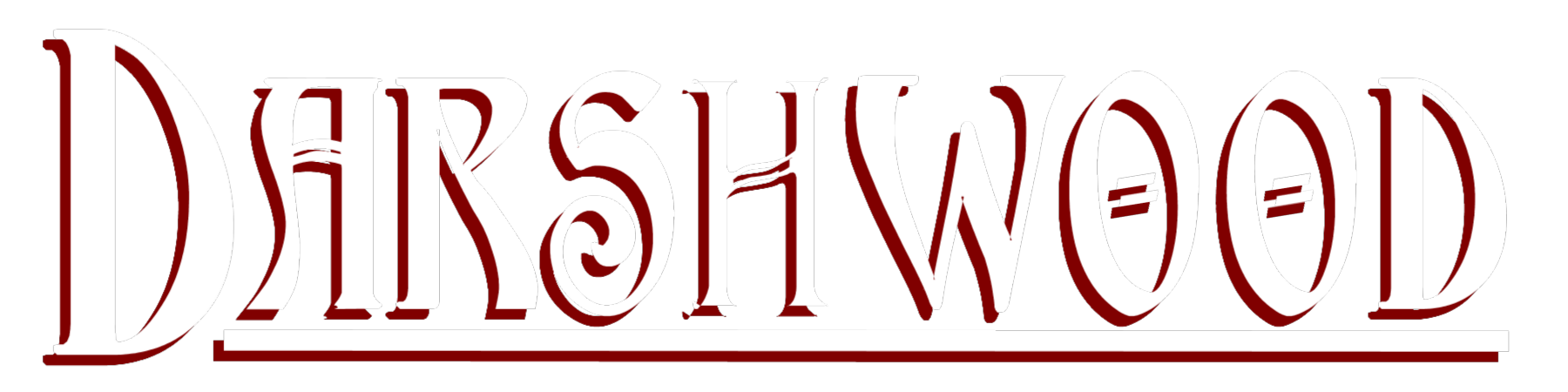 DW Logo – WHITE with RED